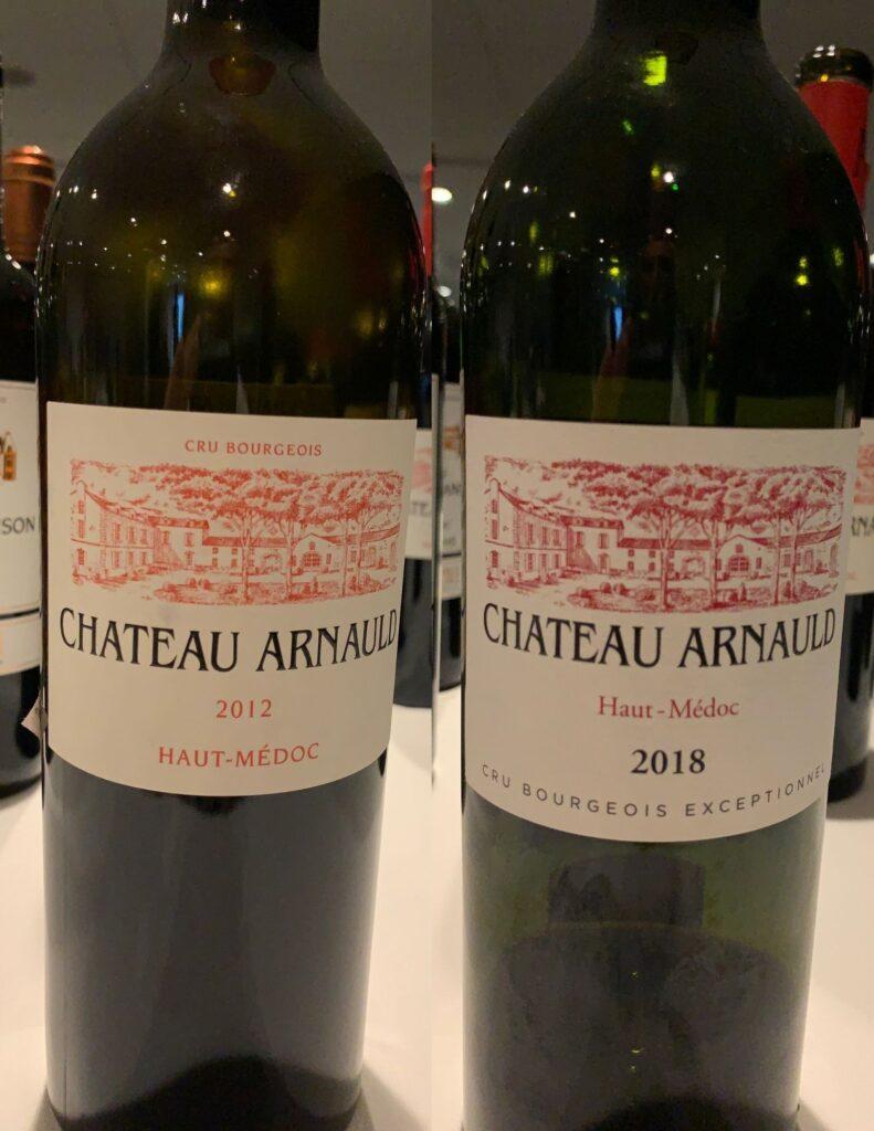 Bouteilles de Château Arnauld, Bordeaux, Haut-Médoc, Cru Bourgeois (Cru Bourgeois Exceptionnel millésime 2018+), 2012 et 2018