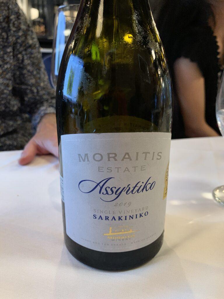 Bouteille de Moraitis Estate, Assyrtiko, Sarakiniko, Single Vineyard, 2019