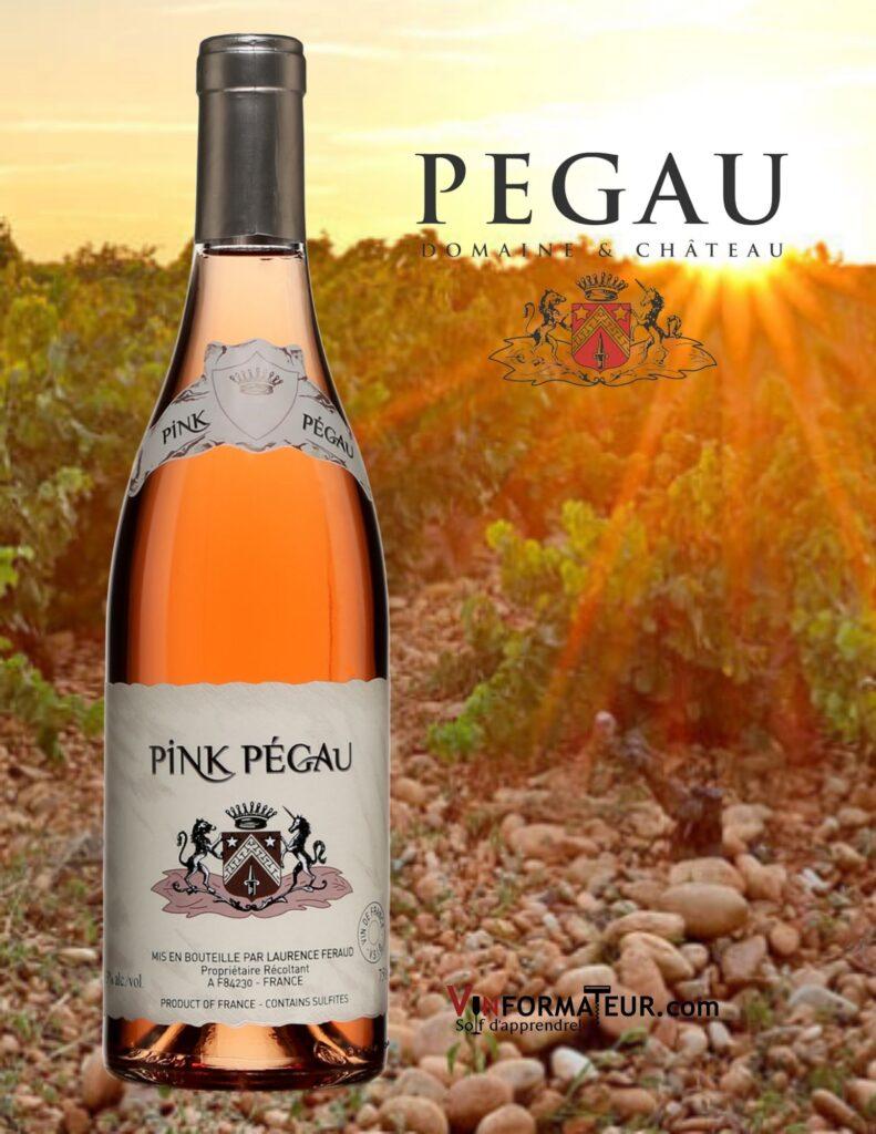 Bouteille de Pink Pégau, Château Pégau, Vin de France, 2020 et vignobles