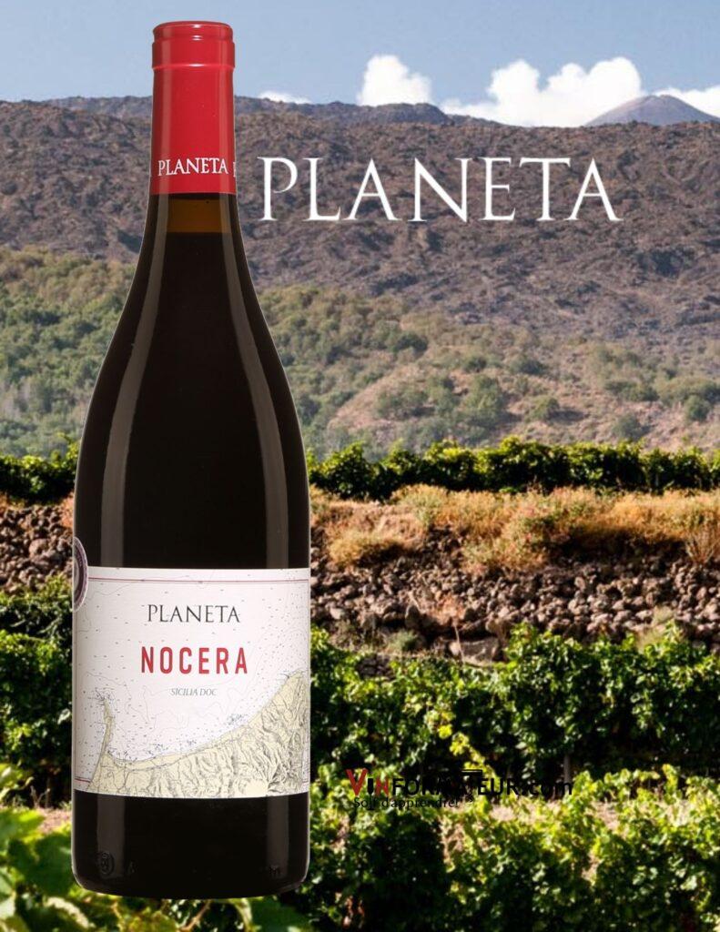 Bouteille de Planeta, Nocera, Italie, Sicile DOC, Milazzo, 2018 et vignobles