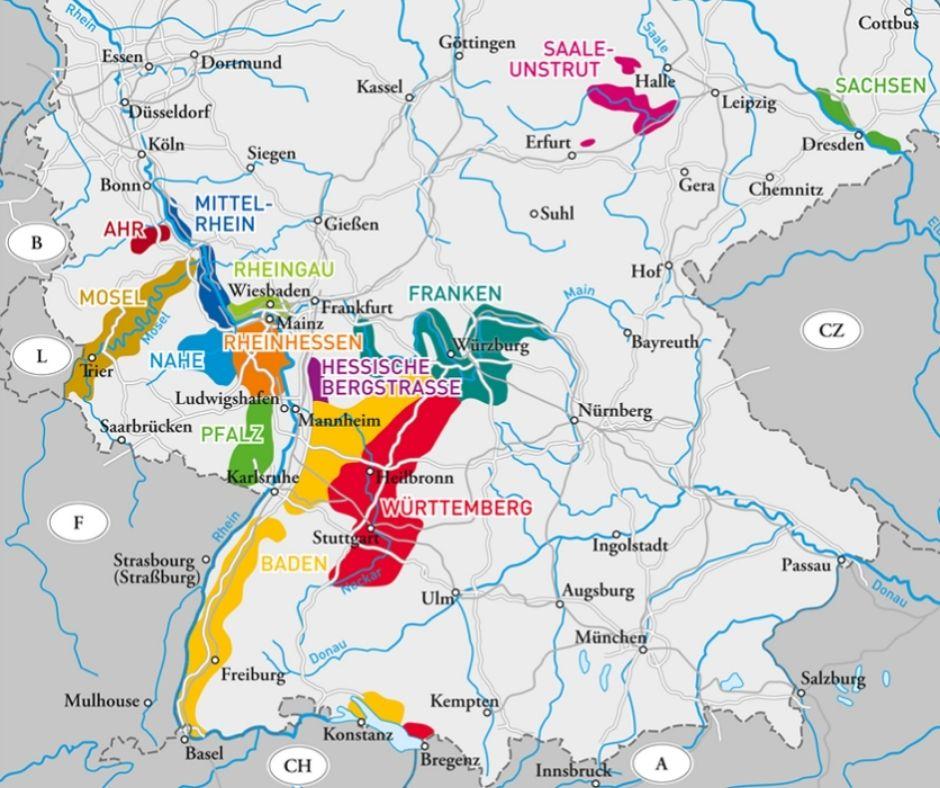 Carte viticole Allemagne