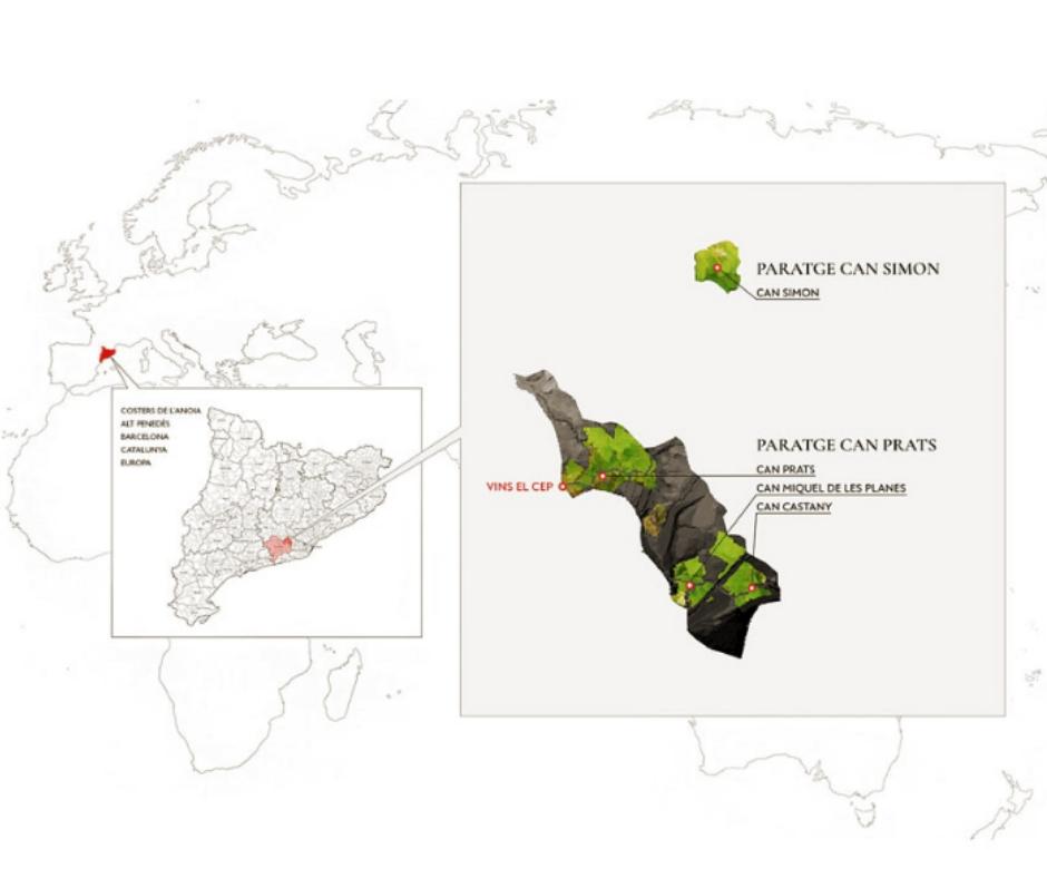 Carte viticole Vins el Cep