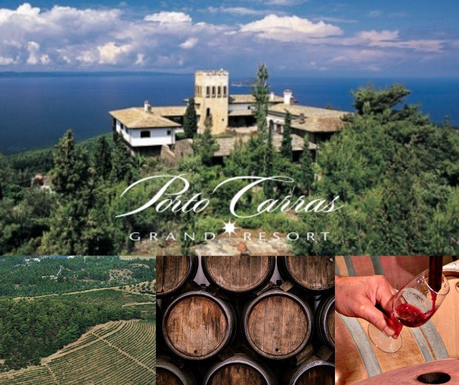 Domaine Porto Carras, chai, vignobles