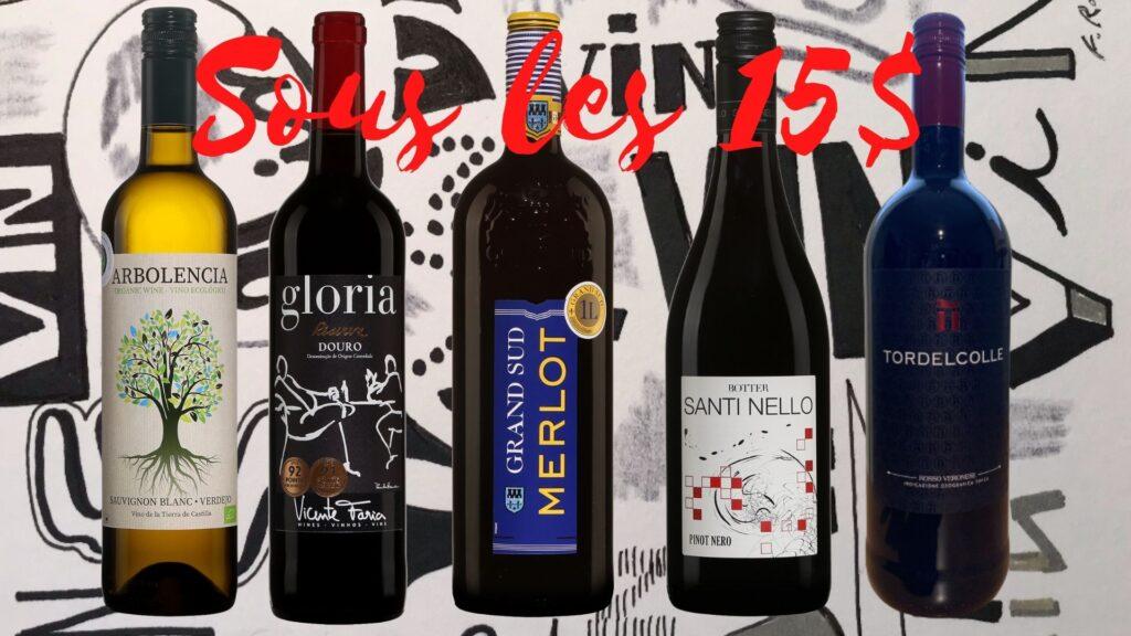 Bouteilles de Arbolencia Sauvignon 2020, Gloria Reserva 2019, Grand Sud Merlot 2020, Santi Nello Pinot Nero 2020, TordelColle 2020.