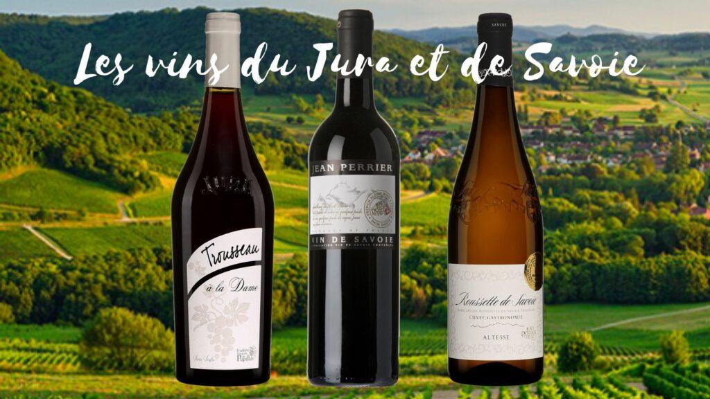 Vins du Jura et de Savoie: Arbois Pupillin Trousseau à la Dame Jura 2020, Jean Perrier Mondeuse Savoie 2019, Roussette de Savoie Jean Perrier Savoie 2019.