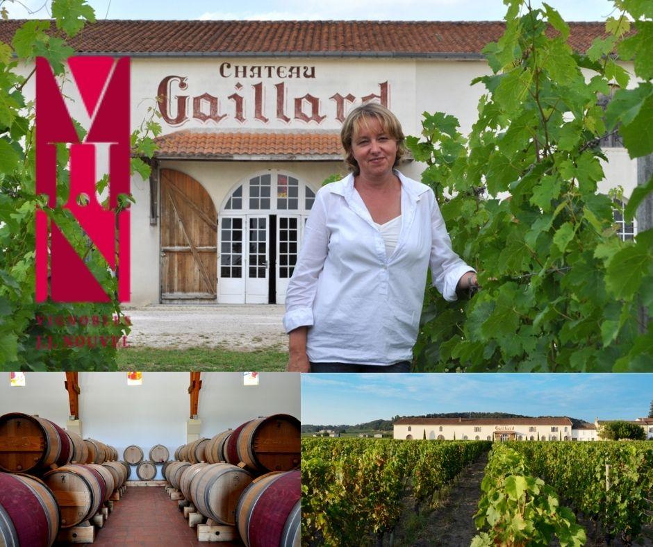 Château Gaillard, Catherine Papon Nouvel, chai et vignobles