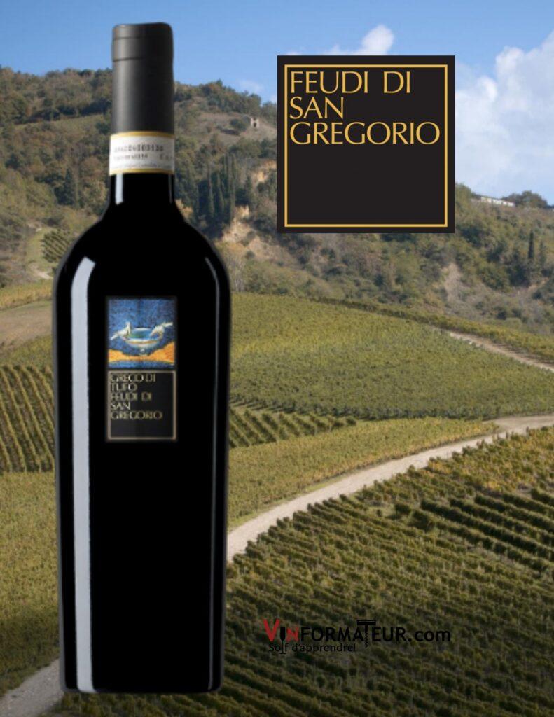Bouteille de Greco di Tufo DOCG, Feudi di San Gregorio, Italie, Campanie, vin blanc, 2020