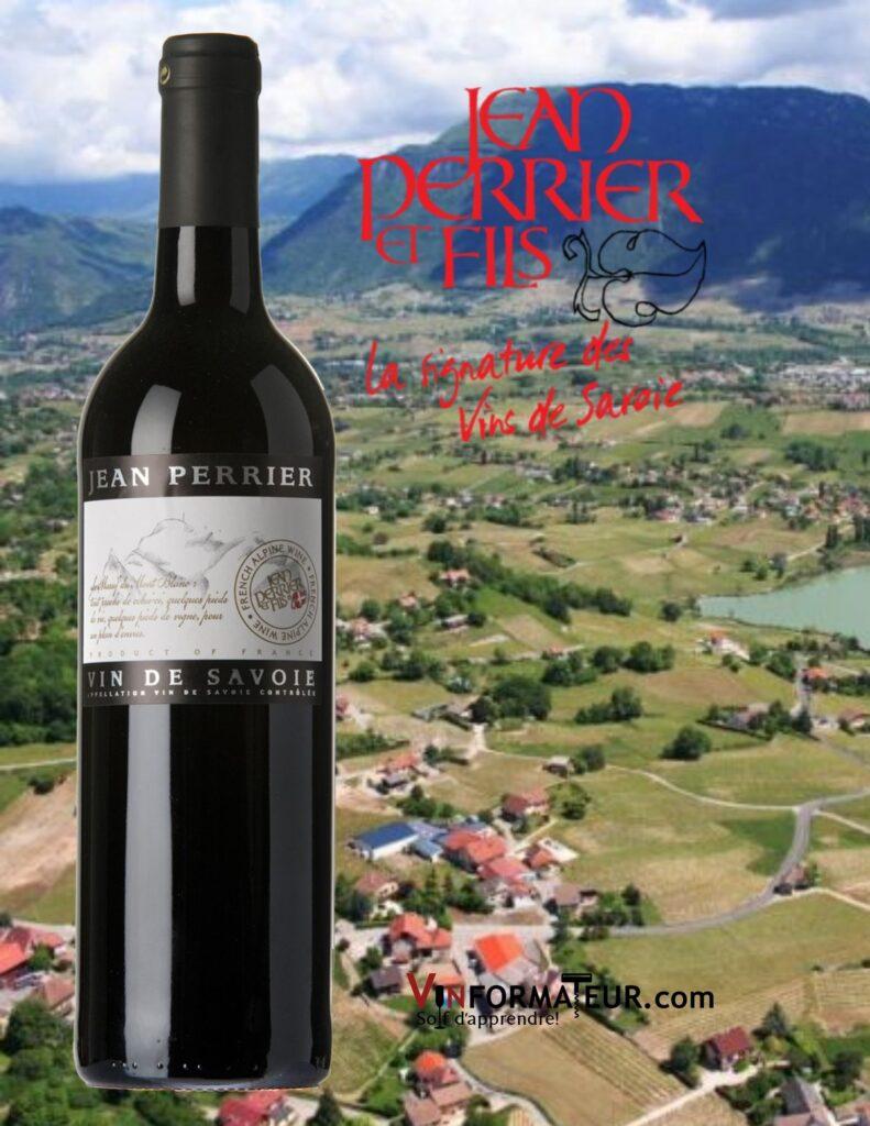 Bouteille de Jean Perrier, Mondeuse, vin de Savoie, vin rouge, 2019