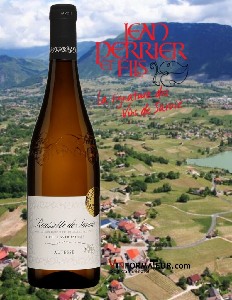 Bouteille de Roussette de Savoie, Jean Perrier & Fils, France, Savoie & Bugey, vin blanc, 2019