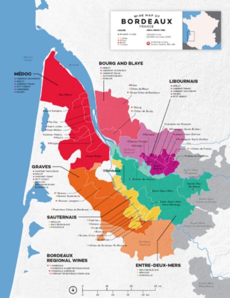 Carte viticole Bordeaux - source: winefolly.com